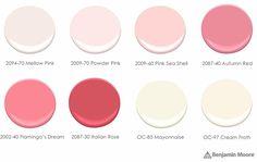 Pomegranate color palette - Benjamin Moore paint colors recommended by Sarah Richardson