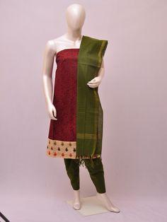 Cotton Woven Designer Dress Material [D1033206] | Pochampally Saree House