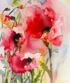Image result for watercolor Flowers loose