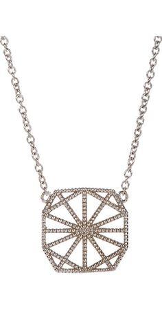 Grace Lee White Gold Petite Deco II Necklace -  - Barneys.com