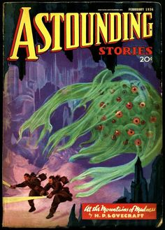 """HP Lovecraft's """"At The Mountains of Madness"""" Astounding Stories, February…"""