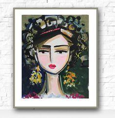 Warrior Girl Ina Print, Warrior, Women art, paper or canvas
