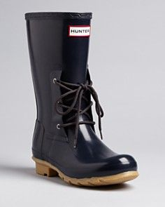 Hunter Rain Boots - Ackley Lace Front