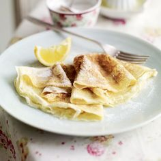 Delia's Pancakes with lemon and sugar.  Best Pancake recipe I have ever found.