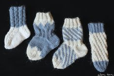 eilen tein: SUOMI100 VAUVANSUKKIA + OHJE LUMIHIUTALESUKKIIN Rainbow Dog, Men In Heels, Knitting Socks, Knit Socks, Red Green Yellow, Circular Needles, Baby Knitting Patterns, Knitting Projects, Stripes
