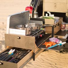 AdVANture kitchen set up - Scout Overland Camping Vehicle Kitchen - Scout Equipment Co