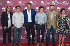 "Ronnie Blevins, David Gordon Green, Nicolas Cage, Tye Sheridan lors du photocall du film ""Joe"" à la 70e Mostra de Venise, le 30 août 2013."