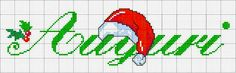 auguri di buon natale e buone feste - punto croce Cross Stitch Alphabet, Cross Stitch Embroidery, Christmas Cross, Xmas, Holidays And Events, Handmade, Cross Stitch Letters, Punto De Cruz, Dishcloth