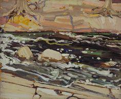 Tom Thomson Dark Waters, Spring, 1916 Oil on Wood 21.3 x 26.8 cm