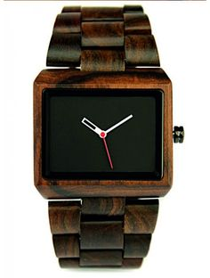 New Plain Black sandalwood Unisex Natural Watch Wooden Watches For Men, Vintage Watches For Men, Vintage Wood, Vintage Men, Big Ben, Handmade Wood Furniture, Style Simple, Men's Style, Classic Style