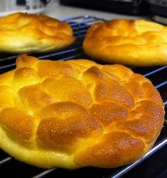 Recipe for Carb Free Cloud Bread - These are a delicious home-made bread replacement that are practically carb free and very high in protein. They are just like heaven so I call them clouds.