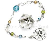 The Star - Limited Edition Tarot Essence Quartz, Aqua Aura, gemstone and sterling silver pendulum