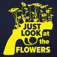 2b5b04be702f1f Just Look At The Flowers The Walking Dead Poster