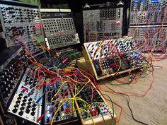 Richard Divine's modular synthesizer.