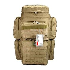 30 4500cu in Tactical Hunting Camping Hiking Backpack OP830 TAN *** Read more  at the image link.