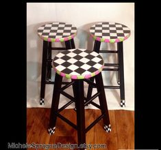 Whimsical Painted Furniture Painted bar by MicheleSpragueDesign