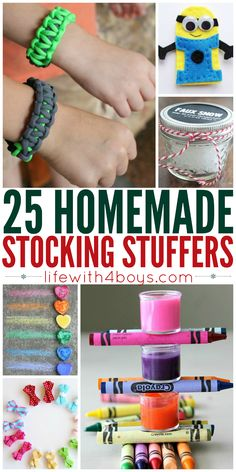 Life With 4 Boys: 25 Stocking Stuffer Ideas You Would Never Know are Homemade #DIY #Christmas
