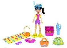 Amazon.com: Polly Pocket Crissy Doll Tropical Party Yacht: Toys & Games