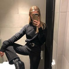 All black outfit - Outfits ta Fashion Killa, Look Fashion, Street Fashion, Fashion Outfits, Fashion Trends, Fall Fashion, Looks Style, Style Me, Estilo Indie