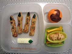 Becoming A Bentoholic: Chicken FINGERS #EasyLunchboxes