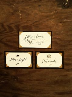 hand crafted labels by Joy Kim