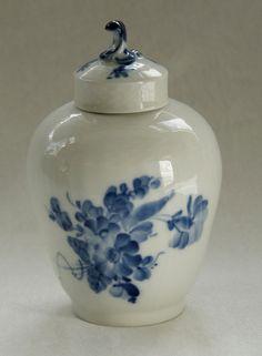 Royal Copenhagen Blue Flower Curved Tea Caddy by NothernAntique, $149.00