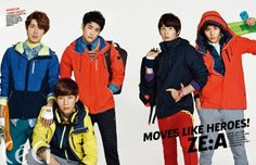 ZE:A show their colors for 'CeCi'