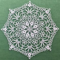 Hello world: Tatting Lace PDF Pattern Frivolite