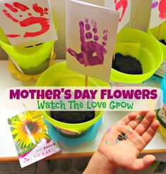 """Here is a great Mother's Day activity to do with your kids. Every kid wants to give flowers to their mom, especially on Mother's Day. Here is a cheap & easy way for toddlers, preschoolers and elementary school kids to give their mom flowers. This is not only a fun activity for kids, but they will also learn about """"how plants grow"""" and how to """"tend to their flowers"""" each day. http://www.supermommy.com.sg/kids-craft-mothers-day-flowers-easy/"""