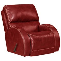 Sectional Sofa Flash Furniture Contemporary Ty Red Leather Rocker Recliner Click image to review more details