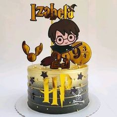 Bolo Harry Potter, Harry Potter Tumblr, Creative Cake Decorating, Creative Cakes, Cakes And More, Birthday Cake, Desserts, Food, Harry Potter Birthday Cake