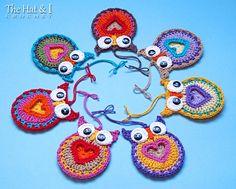 CROCHET PATTERN - Owl Always Love You - a crochet owl pattern, owl motif pattern, heart owl, owl ornament pattern - Instant PDF Download by TheHatandI on Etsy https://www.etsy.com/listing/87148769/crochet-pattern-owl-always-love-you-a