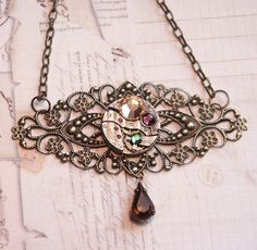 steampunk jewelry | Steampunk Jewelry Necklace, Very Special Piece - Antique Copper ...