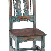 rustic raul chair rugged pine u0026 wormwood finished in weathered turquoise wash w rusted