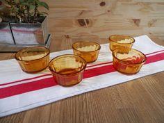 5 stampini Vereco vetro ambrato lato Made in di LovelyFrance