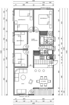 Shed Floor Plans, My House Plans, House Layout Plans, House Layouts, Small House Plans, Bungalow House Design, Tiny House Design, House Construction Plan, Three Bedroom House Plan