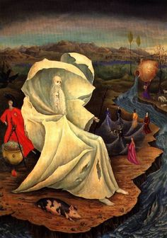 Leonora Carrington - Tentación de San Antonio (Die Versuchung des heiligen Antonius).