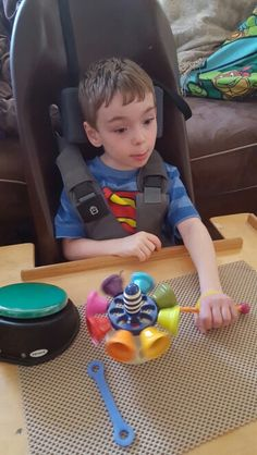 EazyHold hand helpers! My son Conlan was able to hold onto the stick flawlessly focusing on arm movement and it was the first time he ever made music on his toy! #EazyHold