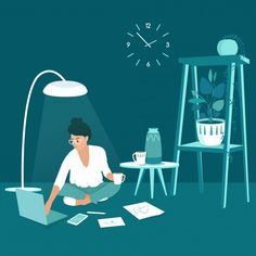 Isometric business woman looking at the laptop screen | Premium Vector