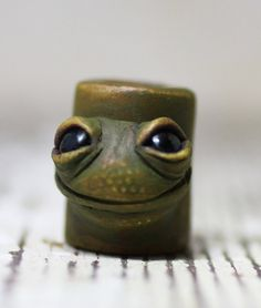 Toad frog dreadlock bead 10mm by Feythcrafts on Etsy