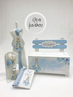 FLOWER RABBIT Κωδικός προϊόντος: A18-068  Βαπτιστικό κουτί παγκάκι 149€ Λαμπάδα βάπτισης 75€ Λαδοσέτ 50€ Βιβλίο Ευχών 40€  #elenamanakou #newcollection #2018 #handpainted #handmade #vaptisi #baptism #christening #woodenbox #box #candle #madeingreece #baby #boy #babyboy #godmother #godfather #special #rabbit #flower #blue #costummade #personalizedbaptism #βάπτιση #κουτί #κουτίβάπτισης #λαμπάδα #νονός #νονά #χειροποίητες_δημιουργίες