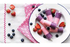 Children will adore these mouth-tingling, creamy pink lollies. Made with fresh strawberries and mixed berries they are a good source of vitamin C and count towards your child's five a day.