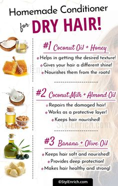 Conditioner For Dry Hair - What Are The Recipes? Recipes For Homemade Conditioner For Dry Hair!Recipes For Homemade Conditioner For Dry Hair! Homemade Conditioner, Natural Hair Conditioner, Dry Hair Shampoo, Hair Rinse, Remove Unwanted Facial Hair, Unwanted Hair, Pelo Natural, Natural Hair Care, Natural Hair Recipes