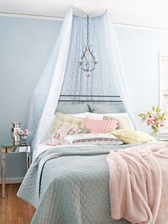 I love this canopy - and I'm going to put my bed against a window - it could be part of the curtain.