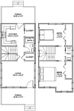 Make This A One Bedroom With The Ensuite Above The Kitchen And A Large Walk  Through Closet. PDF House Plans, Garage Plans, U0026 Shed Plans.