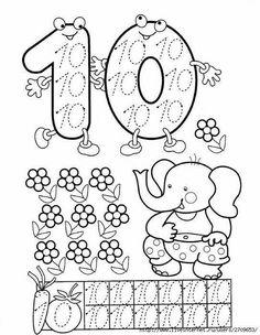 Preschool and Homeschool Numbers Preschool, Math Numbers, Preschool Activities, Math For Kids, Lessons For Kids, Math Lessons, Math Games, Learning Activities, Kids Learning