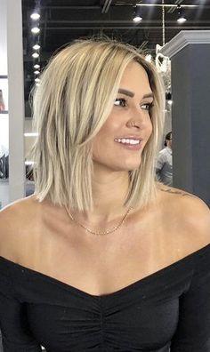 Medium Hair Styles, Short Hair Styles, Medium Hair Cuts Bob, Blonde Hair Styles Medium Length, Bob Hair Cuts, Natural Hair Styles, Blonde Hair Looks, Great Hair, Balayage Hair