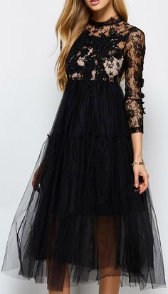 Sequins Tulle Dress With Bralet Top