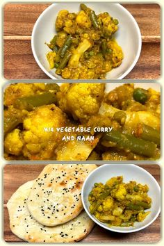 Mix Vegetable Curry and Naan Different Vegetables, Mixed Vegetables, Cauliflower Potatoes, Stuffed Mushrooms, Stuffed Peppers, Vegetable Curry, Green Peas, Homemade Recipe, Indian Dishes