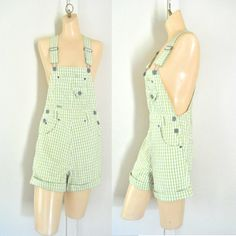 Womens Overalls Shorts Overall Shortalls Womens by TheVilleVintage, $36.99
